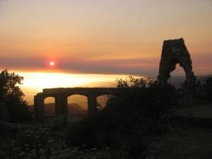 Knapps Castle at Sunset